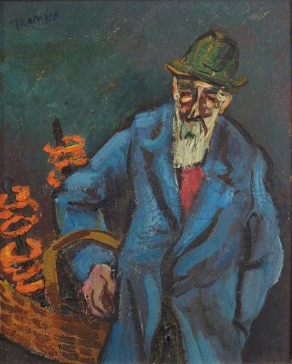 Abram TROMKA - Gemälde - Pretzel Vendor