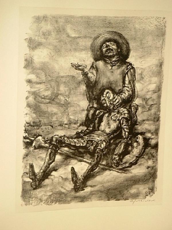 Andreas Paul WEBER - Estampe-Multiple - Die Klage des Sancho Pansa.