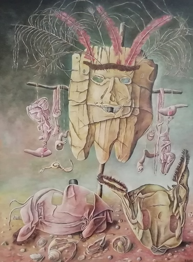Erich GARGERLE - Gemälde - TOTEM