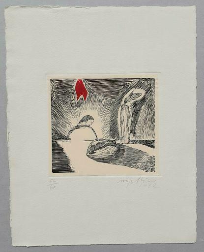 Mimmo PALADINO - Stampa-Multiplo - Bosforo, 1982