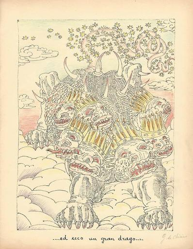 乔治•德•基里科 - 版画 - .. ed ecco un gran drago..,1941