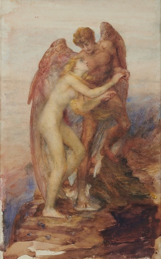 George Frederick WATTS - Drawing-Watercolor - Love & Life
