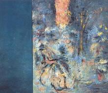 Hubert SCHEIBL - Painting - BLIND COMPASS
