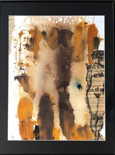 Aurélie LAFOURCADE - Peinture - Silhouette sur rouille