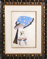 Léon BAKST - Drawing-Watercolor - Costume Design: The Acrobat