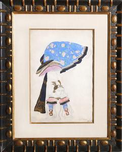 Léon BAKST - Disegno Acquarello - Costume Design: The Acrobat