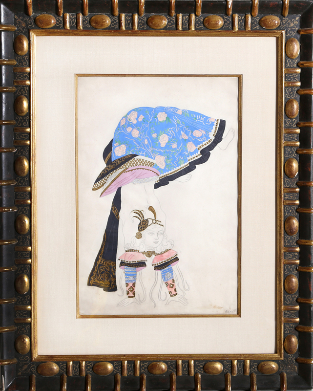 Léon BAKST - Drawing-Watercolor - Costume Design: The Acrobat