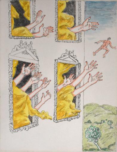 Giorgio DE CHIRICO - Stampa Multiplo - The Mysterious Hands| Le Mani Misteriose