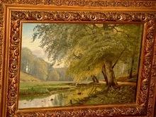 August JACOBSEN - Gemälde - Alstertal bei Poppenbüttel