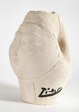 巴勃罗•毕加索 - 陶瓷  - Tête de femme couronnée de fleurs
