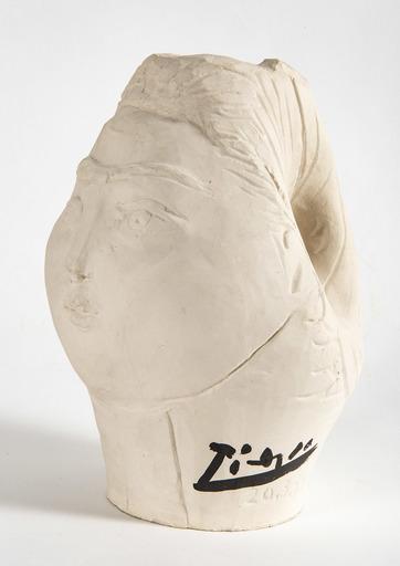 Pablo PICASSO - Céramique - Tête de femme couronnée de fleurs
