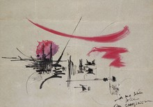 Georges MATHIEU - Drawing-Watercolor - Composition
