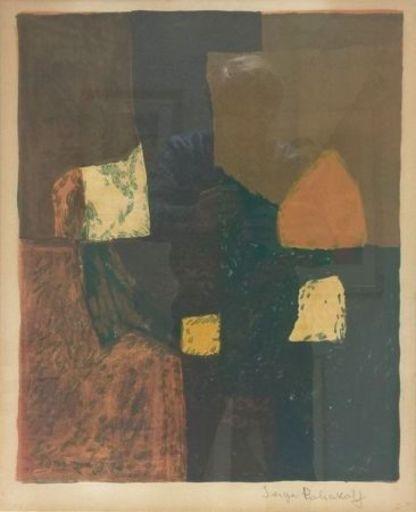 Serge POLIAKOFF - Estampe-Multiple - Composition rouge, verte et jaune n°7