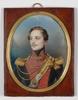 "Johann Nepomuk ENDER - Zeichnung Aquarell - ""Young Ulan officer"" large miniature, 1820's"