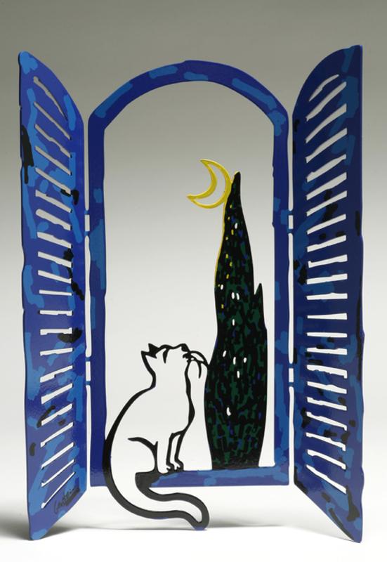 David GERSTEIN - Sculpture-Volume - Window with moon