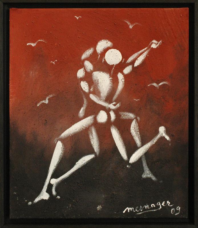 Jérôme MESNAGER - Peinture - Danse Ardente (Ref 01,2020)