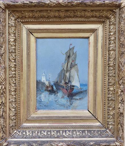 Jules Achille NOËL - Gemälde - barque et bateau animés