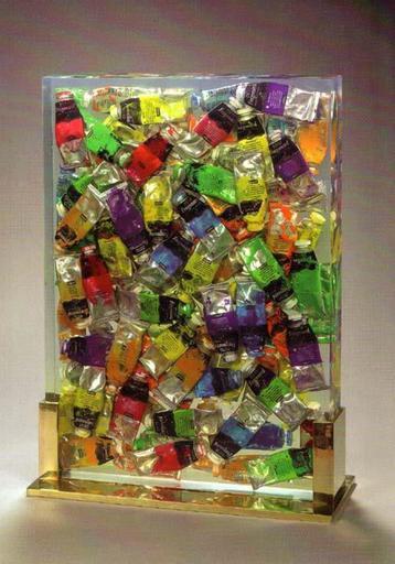 Fernandez ARMAN - Sculpture-Volume - Inclusion de tubes de peinture