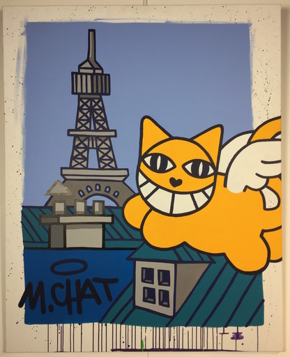 MONSIEUR CHAT - Peinture - World - Paris