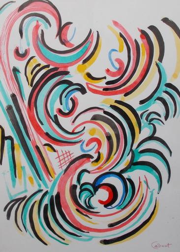 Michel CADORET - Drawing-Watercolor - Hommage à DELAUNAY Sonia