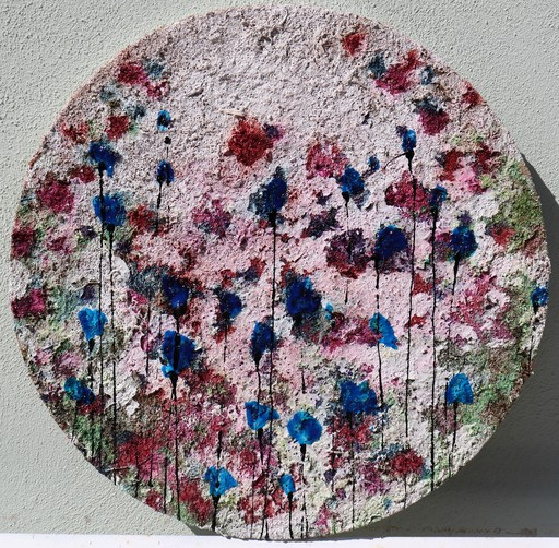 Donatella MARRAONI - Painting - Poppies...flowers in circle