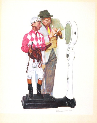 Norman Perceval ROCKWELL - Grabado - *Weighing In