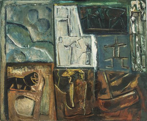 Mario SIRONI - Painting - Composizione con barca