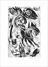 Carl-Henning PEDERSEN (1913-2007) - Le cavalier noir