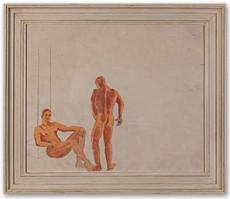 Noël COWARD - Painting - The Duet