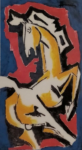 Maqbool Fida HUSAIN - Pintura - Untitled