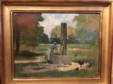 François-Adolphe GRISON - Painting - Femme à la fontaine