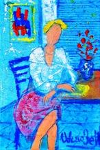 Valerio BETTA - Painting - Giovane modella..foto dal book