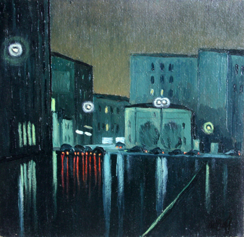 Valeriy NESTEROV - Pintura - Orlikov lane. Moscow