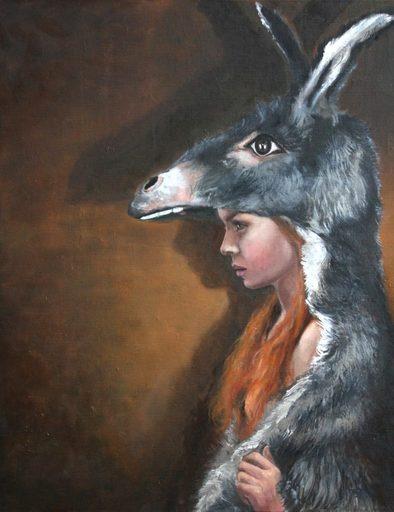 Nathalie BIBOUGOU - Painting - « Peau d'âne »