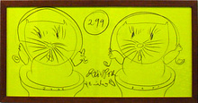 Dieter ROTH - Dibujo Acuarela - 299 Bats