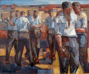 Raymond DE LONGUEIL - Painting - LA BAGARRE
