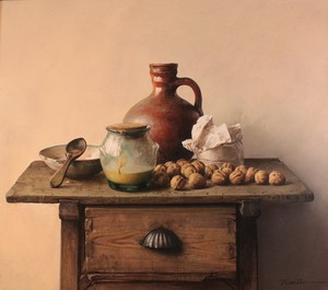 Justo REVILLA RUBIO - Painting - Barro y nueces