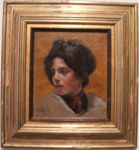 María BLANCHARD - Pintura - El Gorrito de Piel