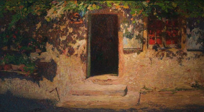 Henri MARTIN - Gemälde - La Porte D' Entrée d'une Maison dans Labastide du Vert