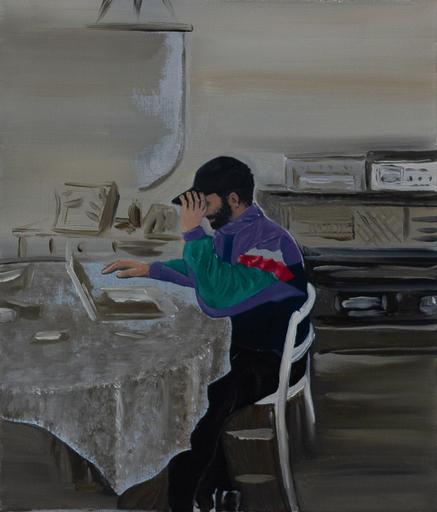 Martin AITKEN - Painting - « Track_09 »