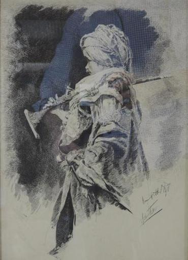 Antonio María FABRES Y COSTA - Dibujo Acuarela - Mameluk