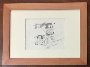 Pino PASCALI - Dibujo Acuarela - Tre moschettieri
