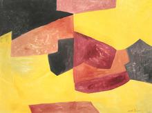塞尔日•波利雅科夫 - 水彩作品 - Composition abstraite