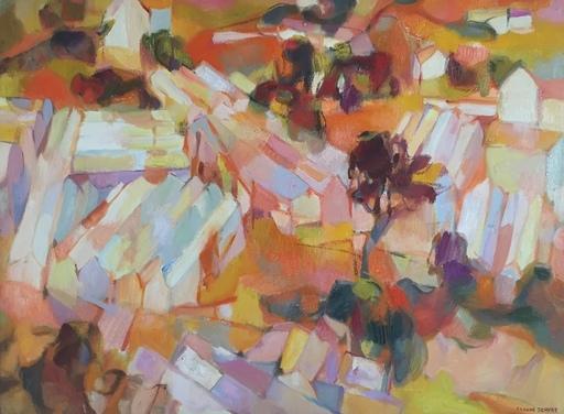 Claude SCHURR - Peinture - Les serres rouges d'Antibes