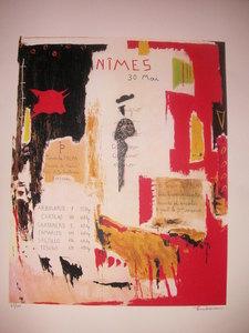Michel TOMBEREAU - Stampa-Multiplo - Nimes 30 mai