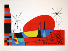 Joan MIRO - Print-Multiple - TERRES DE GRAND FEU